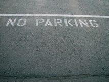 ingen parkering Royaltyfria Bilder