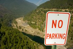 ingen parkering arkivbilder