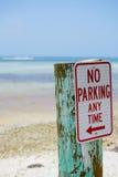 ingen parkering Arkivbild