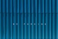 ingen parkering Arkivfoto