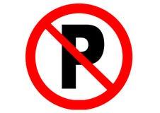 ingen parkering stock illustrationer