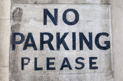 Ingen parkering behar Arkivbilder