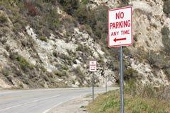 Ingen parkering när som helst Royaltyfri Bild
