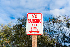 Ingen parkering när som helst Arkivfoton