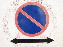 Ingen-parkering tecken Arkivfoto