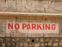 Ingen parkering undertecknar in staden av Mysore Royaltyfri Foto