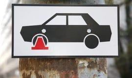 Ingen parkeringsklämmazon Royaltyfri Fotografi