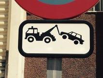Ingen parkeringssignal Fotografering för Bildbyråer