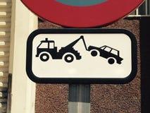 Ingen parkeringssignal Arkivbild