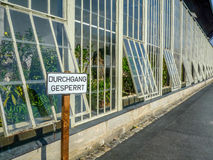 Ingen passage - ingen ingång - ingen lockbortgång Arkivfoton