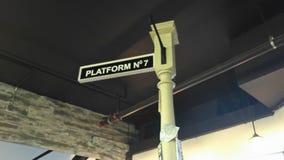 Ingen plattform 7 gata Pole Royaltyfri Bild