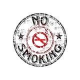 ingen rökande stämpel för gummi Arkivfoto