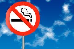 ingen rökande trafik för tecken Arkivbild
