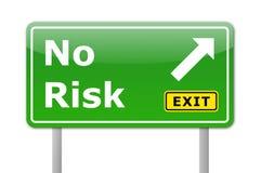 ingen risk royaltyfri illustrationer
