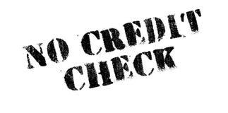 Ingen rubber stämpel för krediteringskontroll Arkivbilder