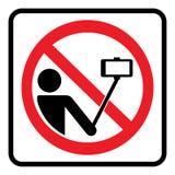 ingen selfiesymbol royaltyfri foto