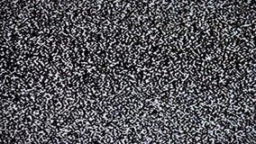 Ingen signal på TV, statiskt oväsen för television arkivfilmer