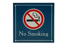 ingen sigrökning Arkivbilder