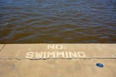 Ingen simning royaltyfria foton