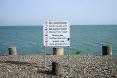 Ingen simning i sjön arkivfoto