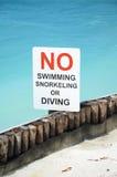 Ingen simning undertecknar Royaltyfri Foto