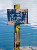 Ingen simning undertecknar Royaltyfri Fotografi