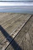 Ingen simningtecken och iskall sjö Royaltyfri Bild