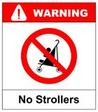 Ingen sittvagnar eller pushchair, illustration royaltyfria bilder
