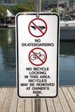 ingen skateboarding Royaltyfria Foton