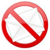 ingen spam Royaltyfria Bilder