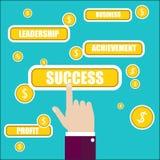 Ingen stordia Nyckel- ord för framgång stock illustrationer