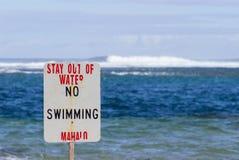 Ingen strand för tunneler för simningfaratecken Arkivbilder