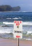 Ingen strand för tunneler för simningfaratecken Fotografering för Bildbyråer
