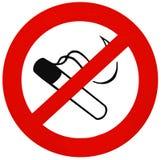 ingen teckenrökning Arkivbild