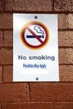 ingen teckenrökning Fotografering för Bildbyråer