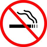 ingen teckenrökning royaltyfri illustrationer