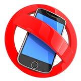 ingen telefon stock illustrationer