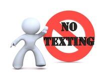 ingen texting Arkivfoton