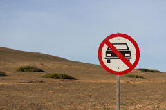 Ingen tillåten bil Arkivbilder