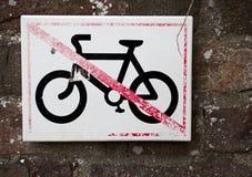 Ingen tillåten cykel Fotografering för Bildbyråer