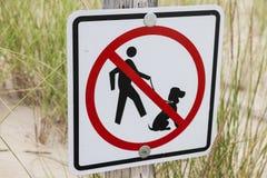 Ingen tillåten hundkapplöpning Arkivfoton