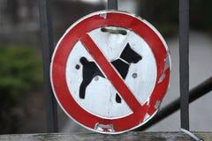 Ingen tillåten hundkapplöpning! Royaltyfri Fotografi