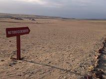 Ingen todoes-desierto Arkivbilder