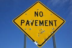 Ingen trottoar Arkivfoto