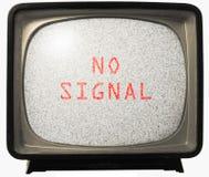 ingen tv för oväsensignalering Royaltyfri Fotografi
