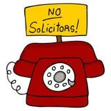 ingen underrättsadvokattelefon royaltyfri illustrationer