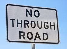 ingen väg Fotografering för Bildbyråer