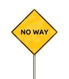 Ingen väg - tecken Royaltyfri Fotografi