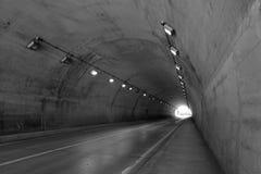 Ingen vehicular tunnel Arkivfoto