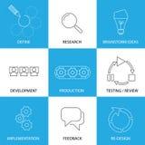 Ingeniería de programas informáticos, proceso de planeamiento de proyecto - vector del concepto Imagen de archivo